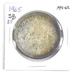 1965 Canada Silver Dollar. SB, B5