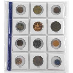 Lot (12) Estate - Tokens & Medals.