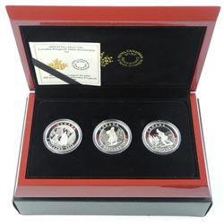 C. Krieghoff 2015 - 3 Coin Set .9999 Fine Silver $
