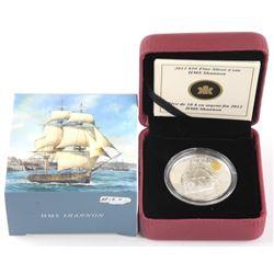 2012 .9999 Fine Silver $10.00 HMS Shannon. LE/C.O.