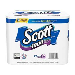 Scott 1000 Sheets Per Roll Toilet Paper- 27 Rolls-