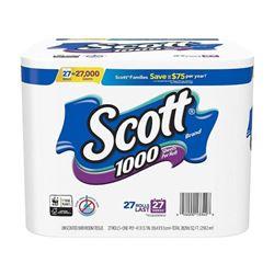 Scott 1000 Sheets Per Roll Toilet Paper- 27 Rolls-