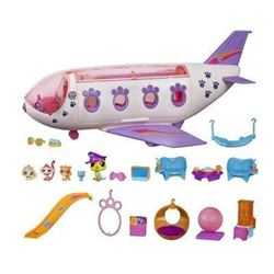 Littlest Pet Shop Pet Jet Playset Toy- Includes 4