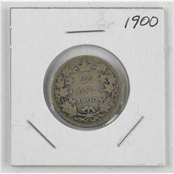 1900 Canada Silver 25 Cent