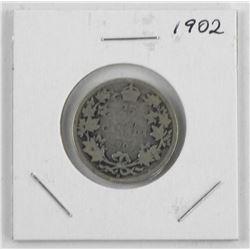 1902 Canada Silver 25 Cent
