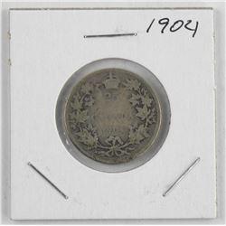 1904 Canada Silver 25 Cent