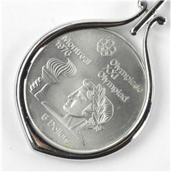 925 Silver - $5.00 Olympic Coin with Chain and Pendant