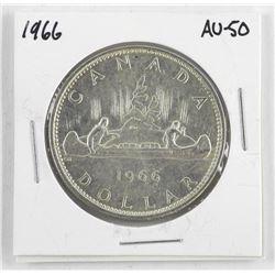 1966 Canada Silver Dollar. AU-50