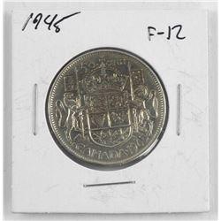1945 Canada Silver 50 Cent. F-12
