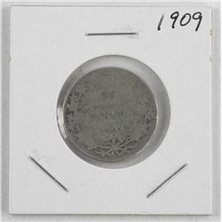 1909 'EDWARD' Canada Silver 25 Cent