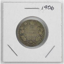 1906 'EDWARD' Canada Silver 25 Cent