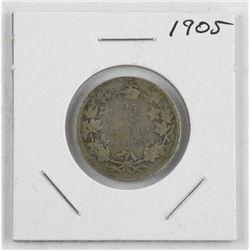 1905 'EDWARD' Canada Silver 25 Cent