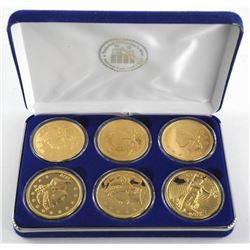 Lot (6) National Collector's Mint Non Monetary 1933 Double Eagle Proof Coins with C.O.A. 24kt Gold C