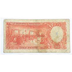 Bank of Argentina Note 10 Pesos