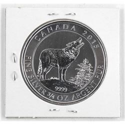 2015 .9999 Fine Silver $2.00 Coin 'Howling Wolf'