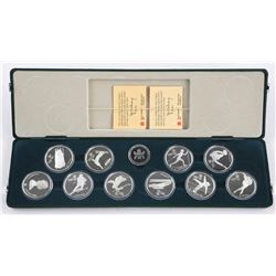 1988 Olympic Coin Set (10) Proof $20.00 925 Silver Coins ORIGINAL Case