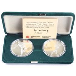 Lot (2) 1988 - $20.00 Coin Proof 925 Sterling Silver with C.O.A. 'Olympics'