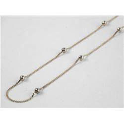 Estate 925 Silver Curb Chain 17""