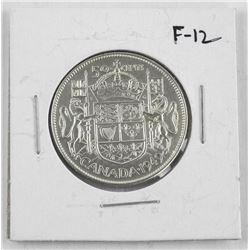 1949 Canada Silver 50 Cent Coin. F-12