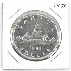 1951 Canada Silver Dollar