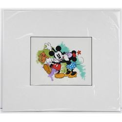 Disney - Mickey and Minnie Mouse Hand Painted, Matted 16x18  (MXR)