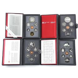 Lot (4) RCM Proof Coin Sets: 1983, 1984, 1987, 1988