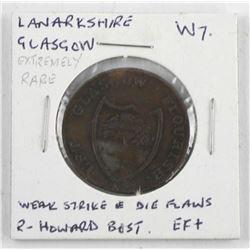 Circa 1795 Lanarkshire Glasgow 1/2d Condor Token D&H7a B-UNC (ER)