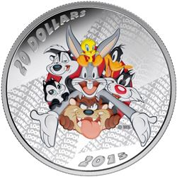 RCM/Warner Bros Looney Tunes .9999 Fine Silver $20.00 Coin 'Merrie Melodies' LE/C.O.A.