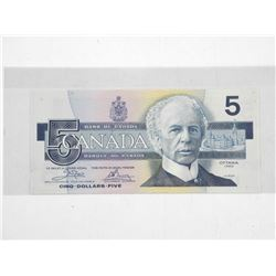 Bank of Canada 1986 Five Dollar Note. Choice UNCÂ
