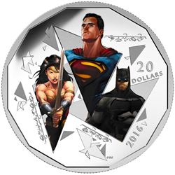 .9999 Fine Silver $20.00 Coin 'Dawn of Justice' LE/C.O.A.