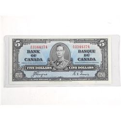 Bank of Canada 1937 Five Dollar Note (EF) BC23c C/T