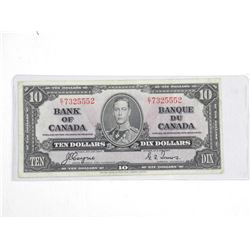Bank of Canada 1937 Ten Dollar Note (VF) BC24c