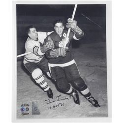 Ted Lindsay - Hockey Hall of Fame 1966 Vintage 8x10 Signed