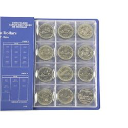 Lot (24) Canada Nickel Dollars in Book