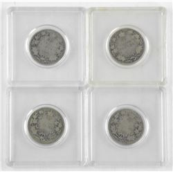Lot (4) Canada Silver 25 Cent 1902, 1907, 1905, 1915