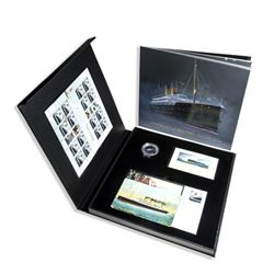 Empress of Ireland 100th Anniversary Leather Bound Book with Coin stamps etc. SOLD OUT.
