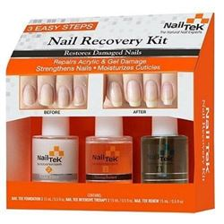 NAIL TEK New Restore Damaged Nails Kit- Intensive Therapy Foundation and Renew- 0.5 fl. oz.