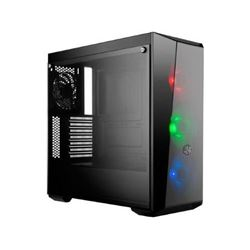 Cooler Master MasterBox Lite 5 RGB ATX Mid-Tower with 3 RGB Fans Tempered Glass Side Panel & Externa