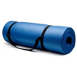 Crown Sporting Goods SYOG-3 Blue Extra Thick Yoga Mat (3/4 Inch) with No Stick Ridge Design