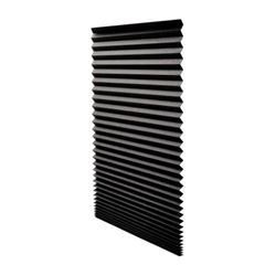 Original Blackout Pleated Paper Shade Black- 36 x 72- 6-Pack