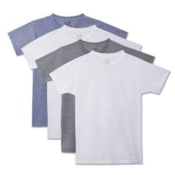 Fruit of the Loom Young Boys' Beyond Soft Crew T-shirt- Pack Of 4 Underwear- -Assorted- L