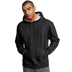 Champion Men's Powerblend Pullover Hoodie- Black- Small