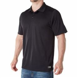 Russell Athletic Men's Dri-Power Performance Golf Polo- Black- XL