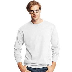 Hanes Men's Long Sleeve Comfort Soft T-Shirt- White- Large (Pack of 4)