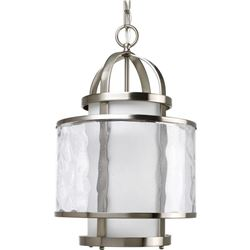 Progress Lighting P3701-09 1 Light Bay Court Foyer Fixture- Brushed Nickel
