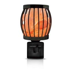 Himalayan Glow 1804 Natural Salt Lamp Wall Plug in- 360 Rotatable Framed Night Light by WBM