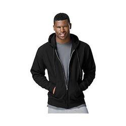 Hanes Men's Full Zip EcoSmart Fleece Hoodie- Black- X-Large