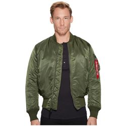 Alpha Industries Men's MA-1 Flight Bomber Jacket- Sage Green- X-Large