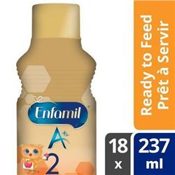 Enfamil A+ 2 Infant Formula- Ready to Feed Bottles- 237mL- 18 pack
