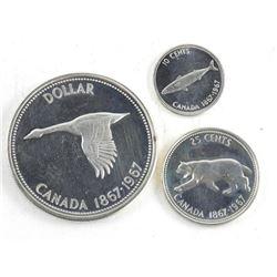 1867-1967 Coins - 5cent,10cent, 1.00